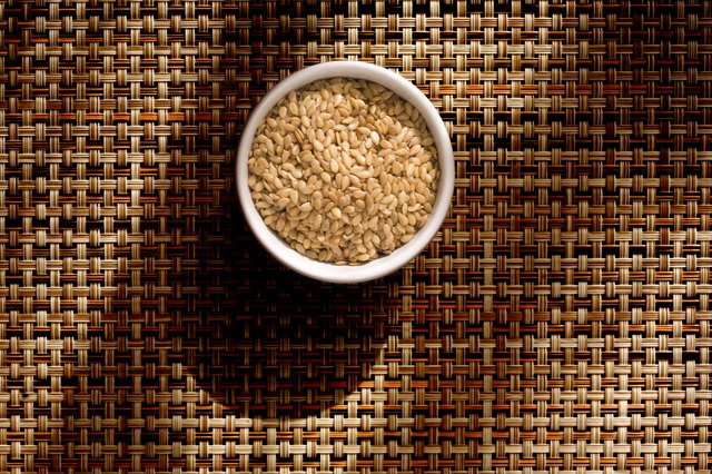 Flax seed in bowl