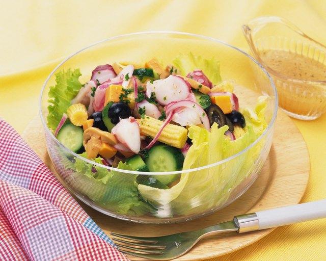 Seafood Salad, High Angle View
