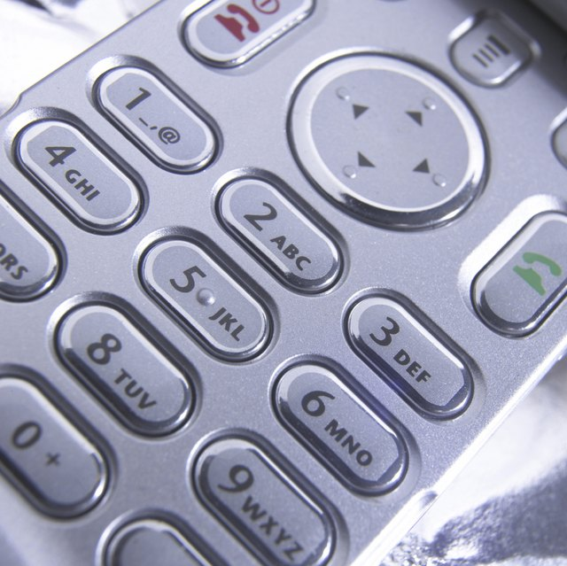 Close-up of the buttons on a mobile phone
