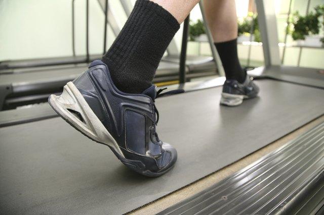 male legs in health club