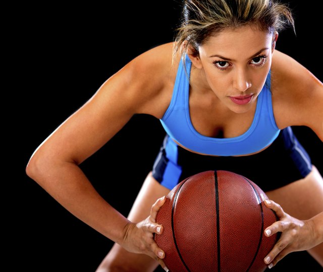 Competitive basketball player