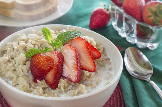hot bowl of oat meal