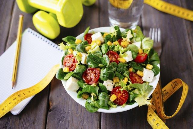 Healthy fitness salad