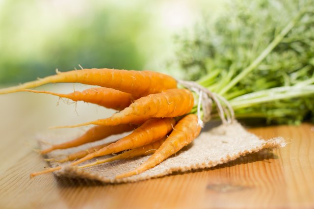 cluster of carrots