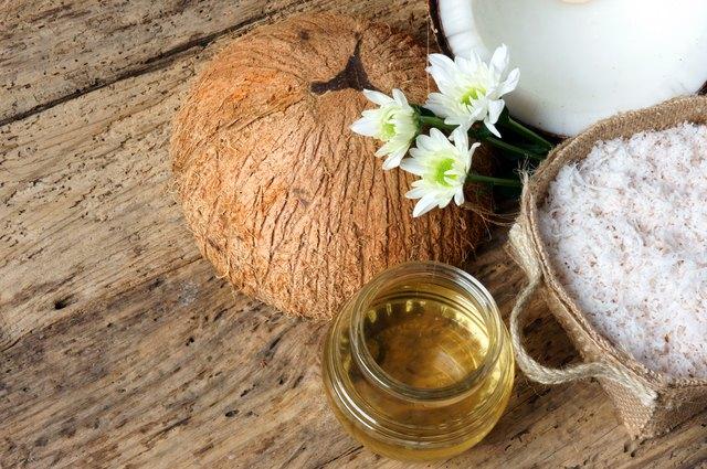 Coconut oil, essential oil, organic cosmetic