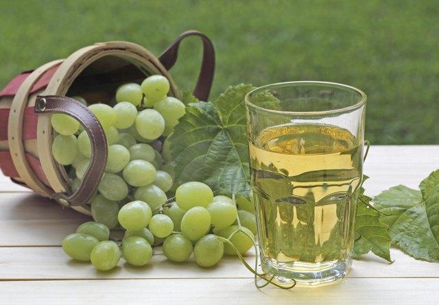 Glass of White Grape Juice
