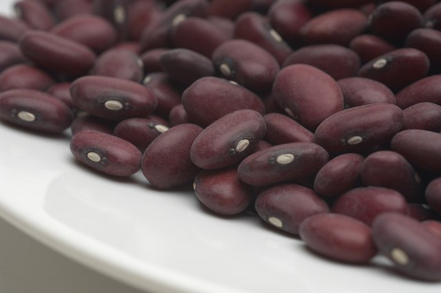 Kidney beans on plate, close-up