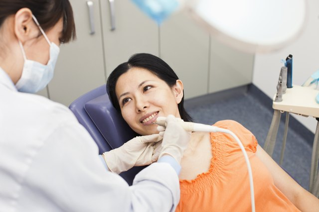 Mid Adult Woman At Dentist
