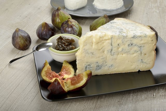Italian cheese served with fig and jam