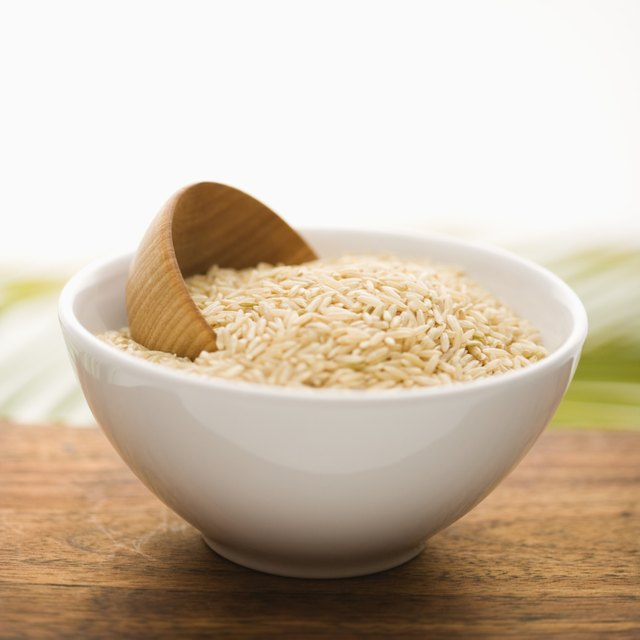Grain in a White Ceramic Bowl. Isolated