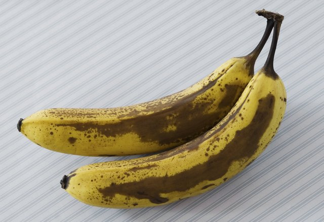 Ripe Bananas - on striped background