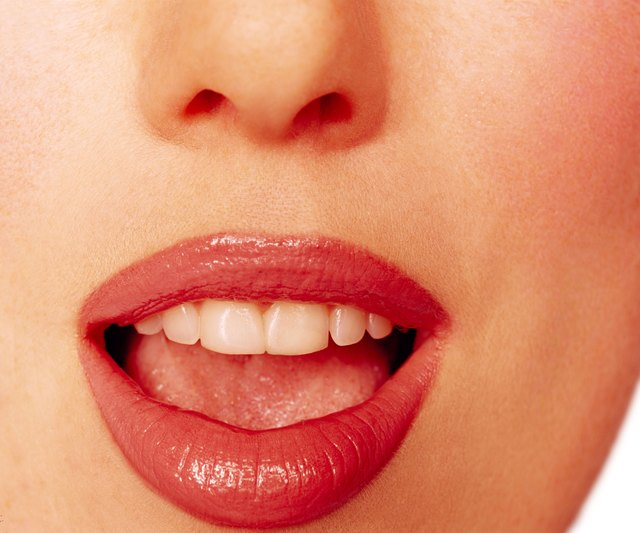 Close-up of woman's mouth