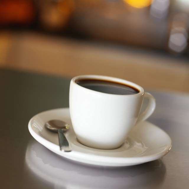 elevated view of a cup of coffee