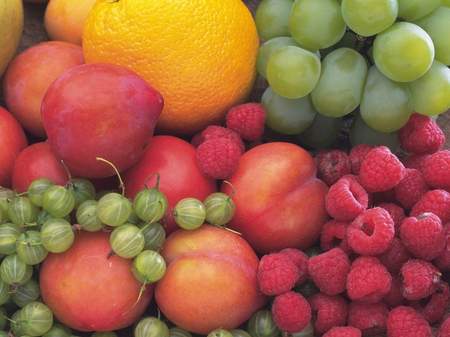 Variety types of fruits, Full Frame, High angle view