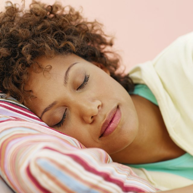 Close up of a woman sleeping