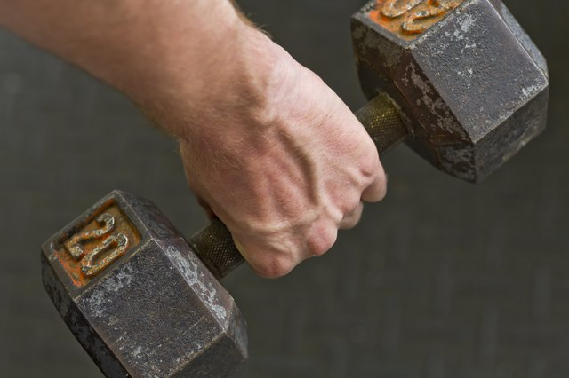 Lifting Dumbbell Weights