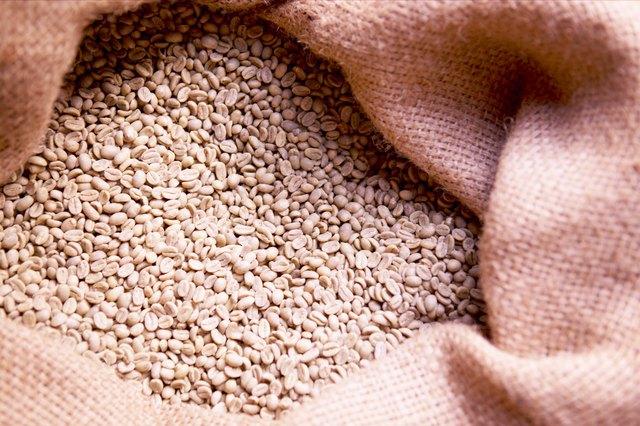 Burlap sack of seeds