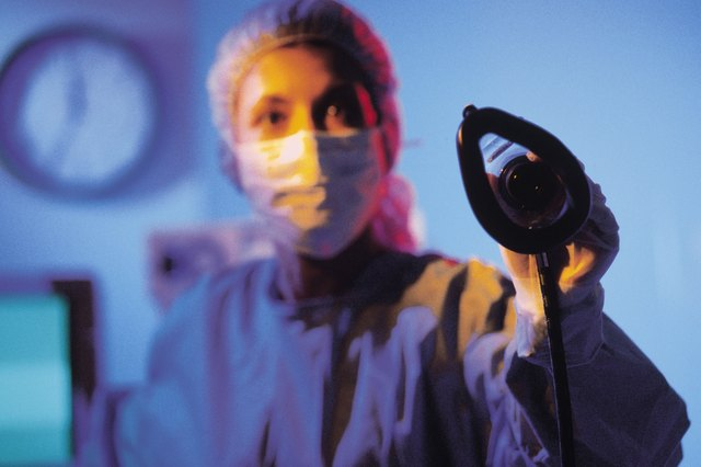 Anesthesiologist with gas mask