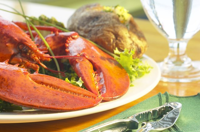 Lobster served up on a plate