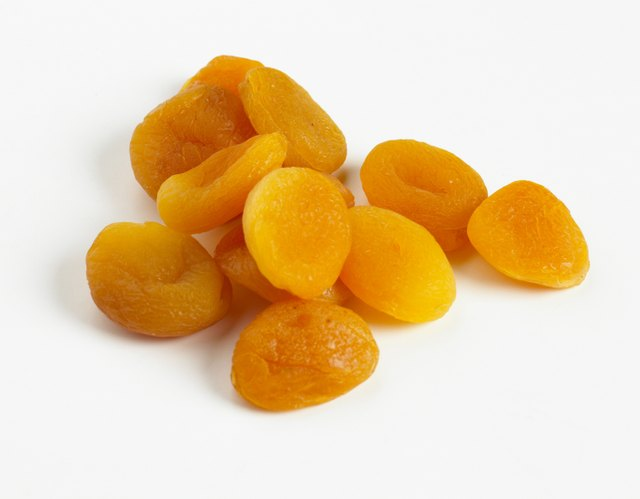 Pile of dried apricots
