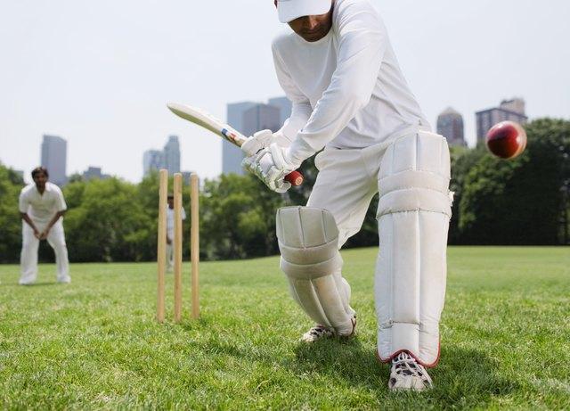 Cricket player at bat, New York City
