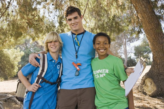 Camp counselor with boys