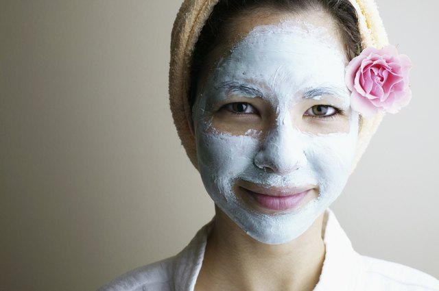 Woman with a mud mask