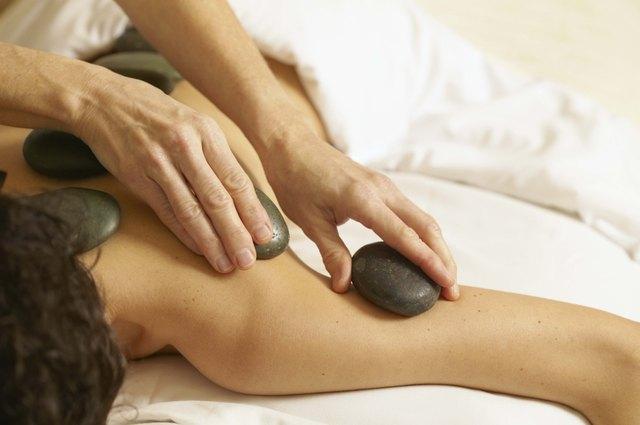 Massage with hot stone treatment