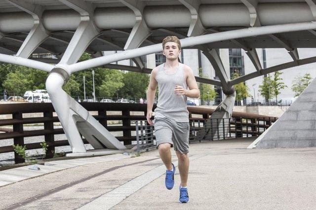 Man urban jogging