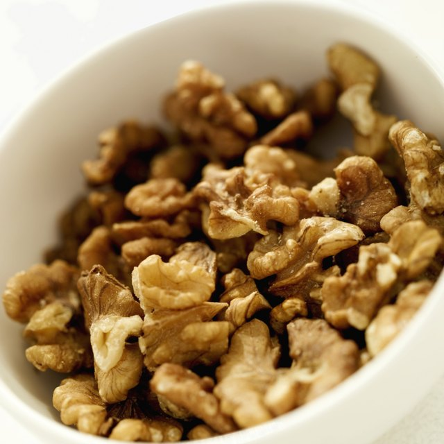 Close-up of walnuts in a bowl