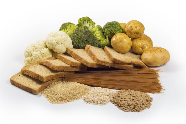 group of healthy carbohydrates