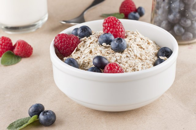 Cereal with berries