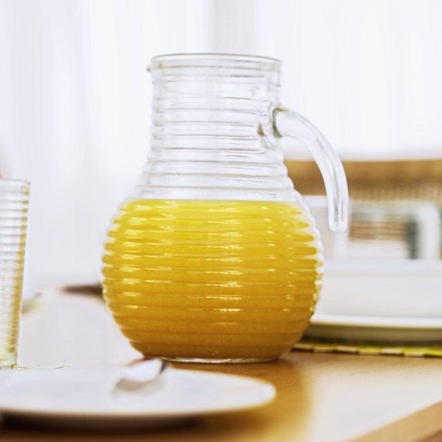 Close-up of a jug of orange juice