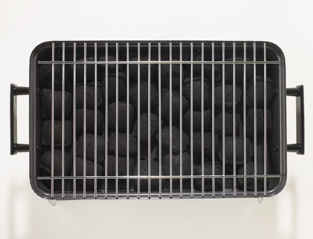 Barbecue grill, overhead view