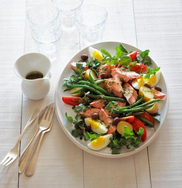 Poached Salmon Nicoise Salad