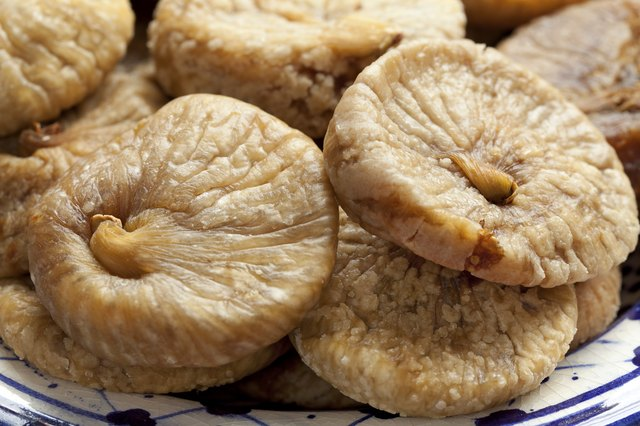Dried figs on a dish