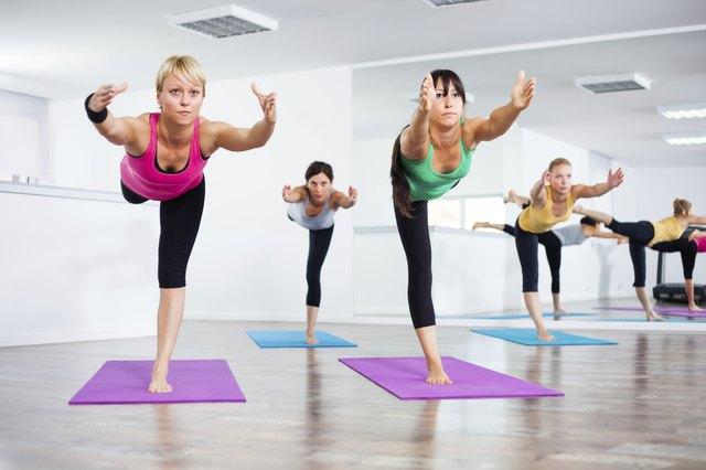 Yoga class - Virabhadrasana III / Warrior Pose III