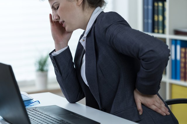 Problems with spine at office work