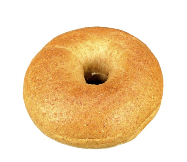 Whole wheat mini bagel