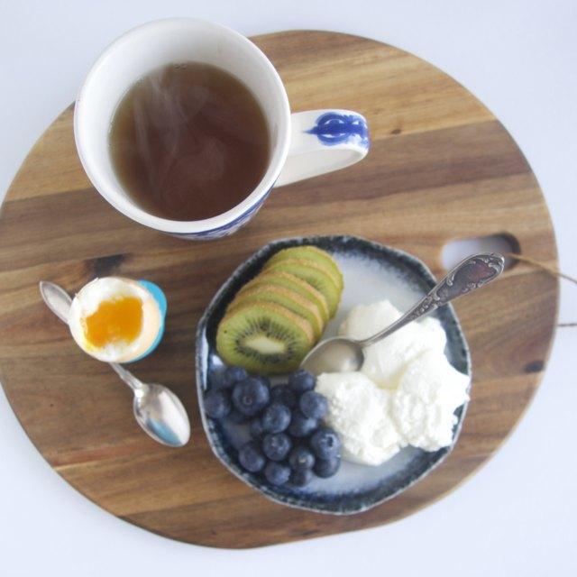 Eggs and Yogurt for Breakfast