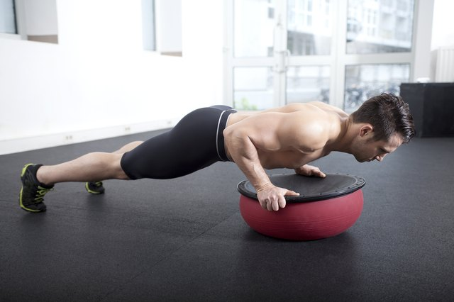 Push-up and core exercise on Togu Ball