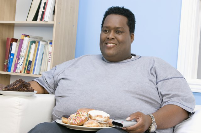 Mid-adult overweight man
