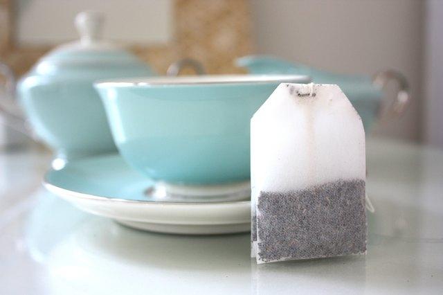 Teabag and tea service.