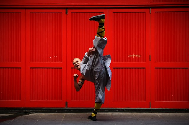 World Famous Shaolin Monks Come To London's Chinatown