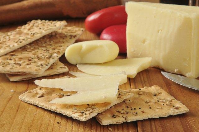Asiago and gouda cheeses