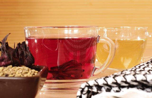 Traditional egyptian tea karkade and helba
