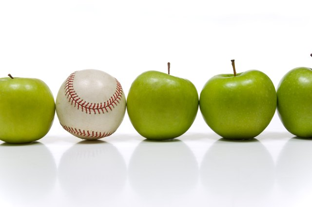 Apple and a Baseball