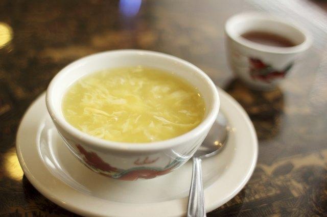 Bowl of egg flower soup
