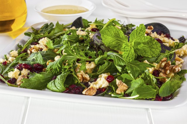 Cranberry Walnut and Feta Salad
