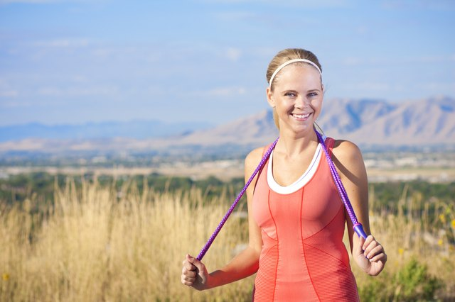 Happy Active Fitness Woman